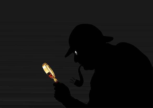 探偵のシルエット