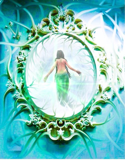鏡に映った人魚姫