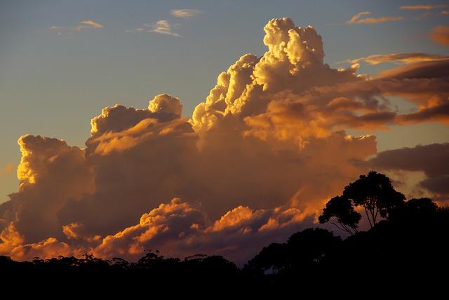 オーストラリアの夕方の空