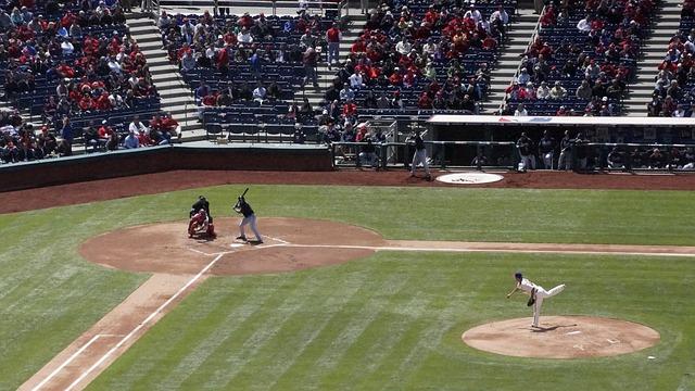 投球時のスタジアムの俯瞰