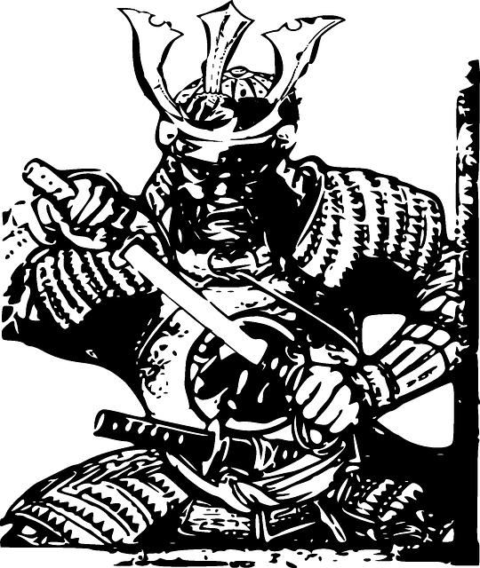 甲冑を着たサムライ
