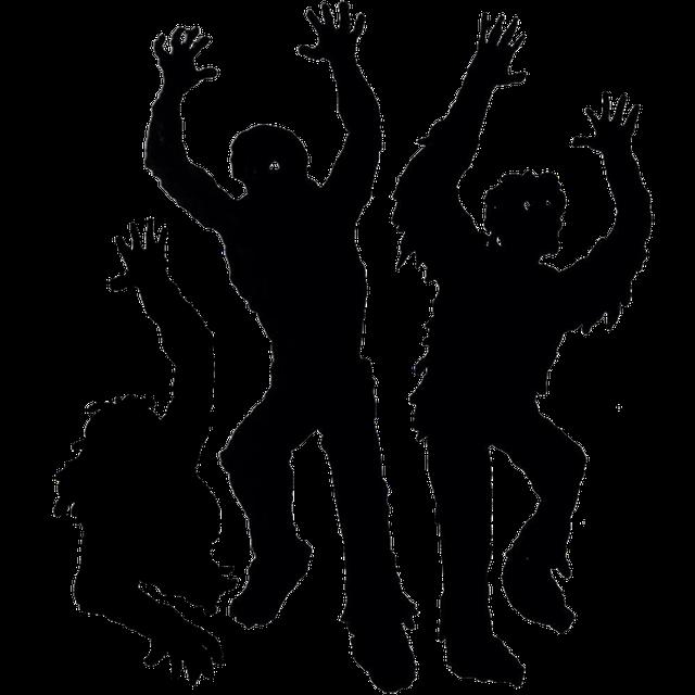 手を挙げる三匹のゾンビ