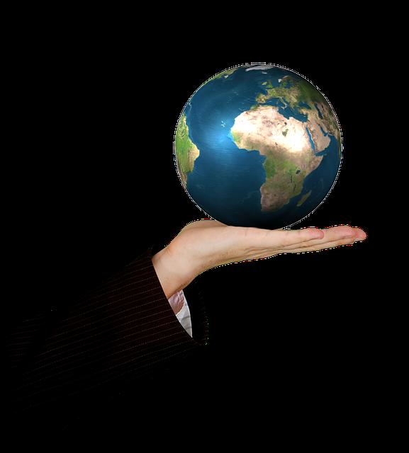 片手で持てる地球儀