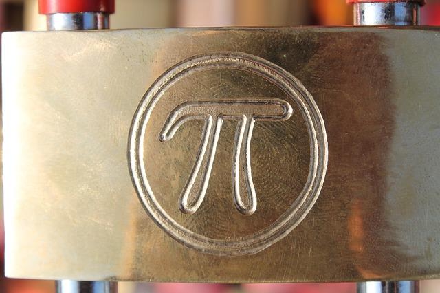 円周率の銅板